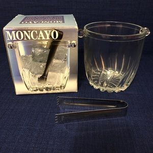 Brand new - never used ice bucket with tongs